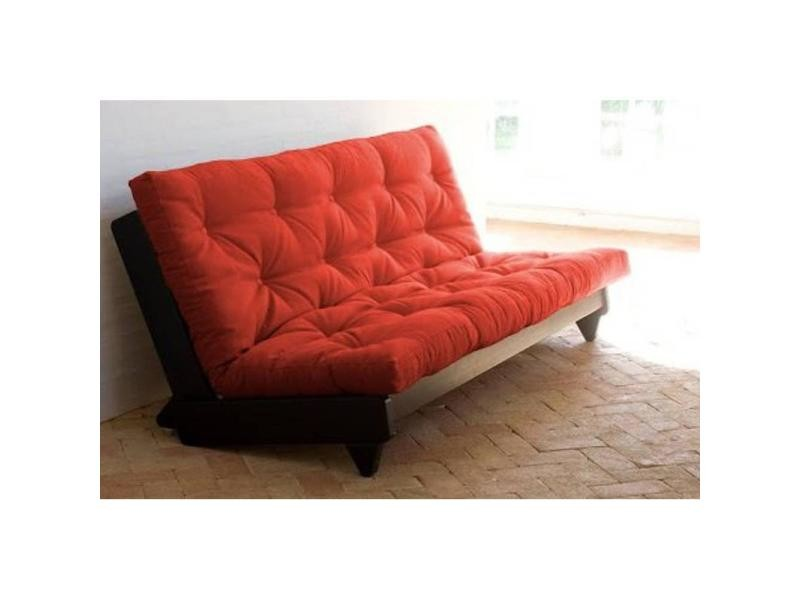 Banquette Lit Wenge Futon Rouge Fresh 3 Places Convertible Couchage