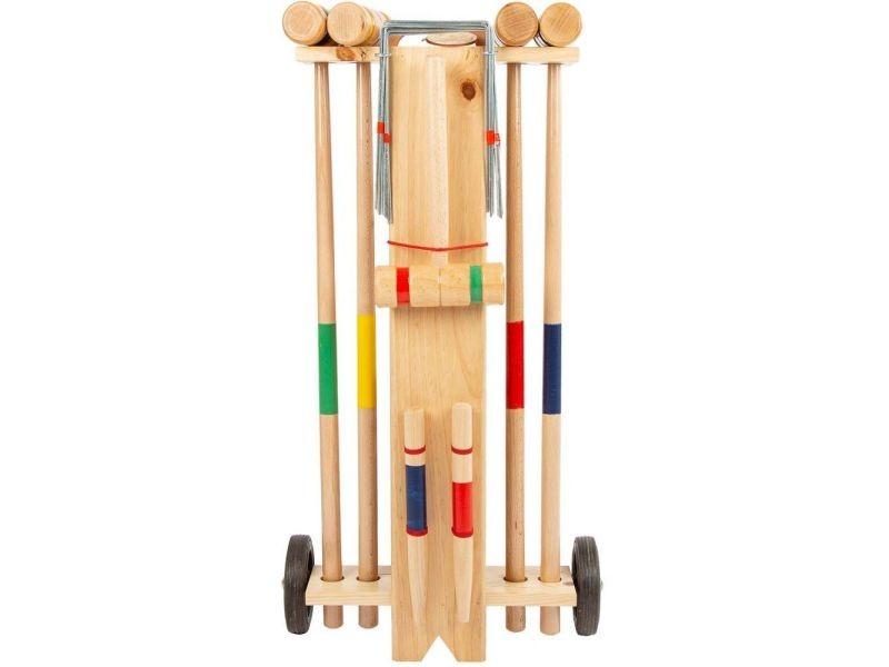 Jeu de croquet avec chariot quatro
