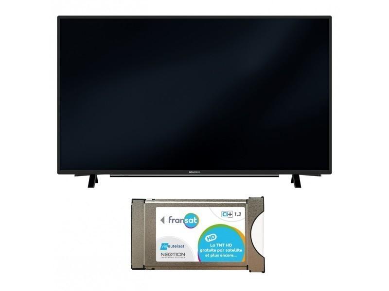Carte Conforama Connexion.Pack Grundig Televiseur Tv 32 Pouces 200hz Connecte