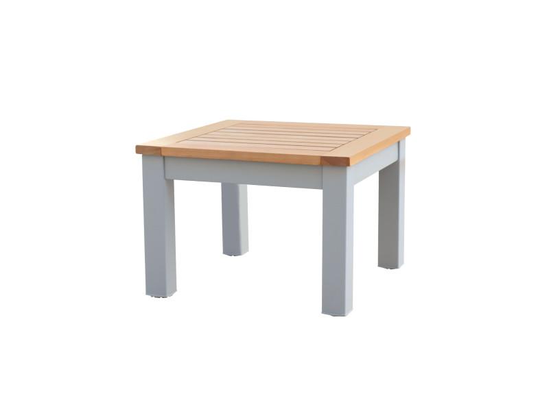 Table basse de jardin bérgamo aluminium bois 46,1x6,1x32,5 cm 8445401000389
