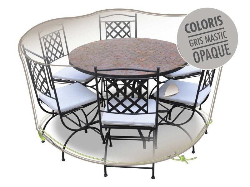 Housse de protection luxe pour salon de jardin rond ø 160 cm - Vente ...