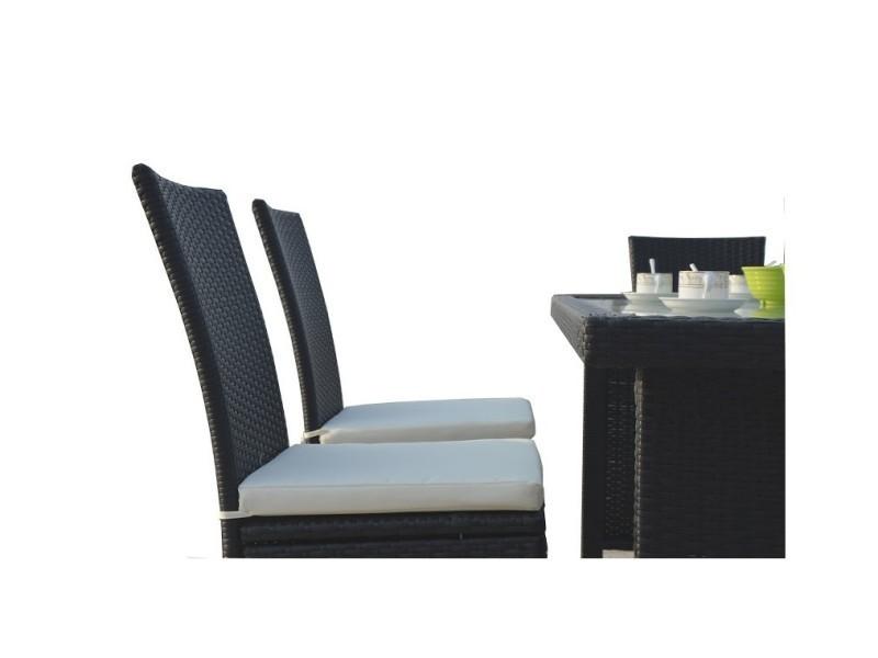 Magnifique salon de jardin vitoria table + 6 fauteuils en ...