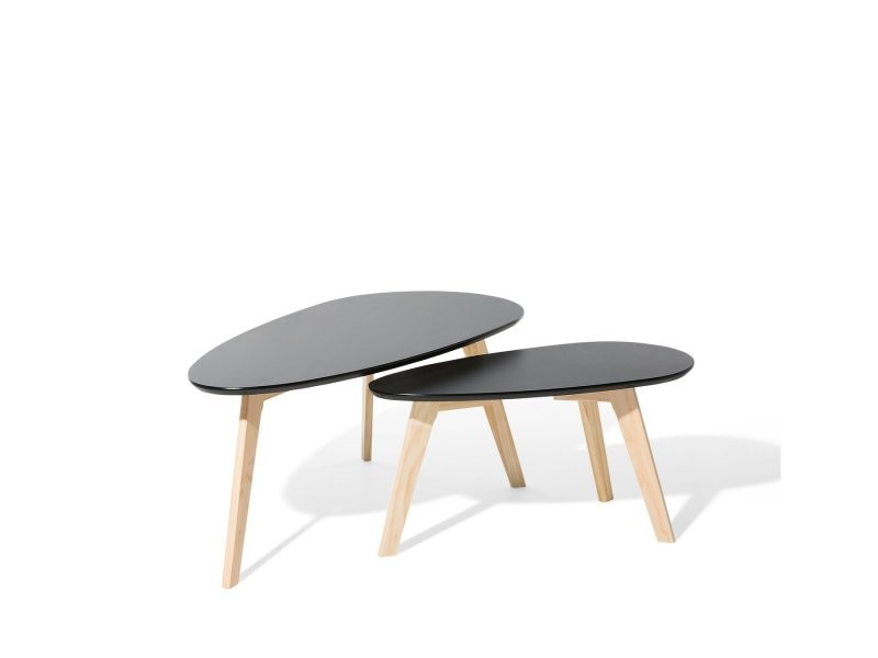 Lot De 2 Tables Dappoint Noir Fly Ii 47760 Vente De
