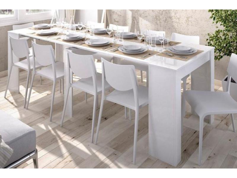 Blanc Extensible Coloris Dim77 Brillant Multiposition X Table FJl1cK