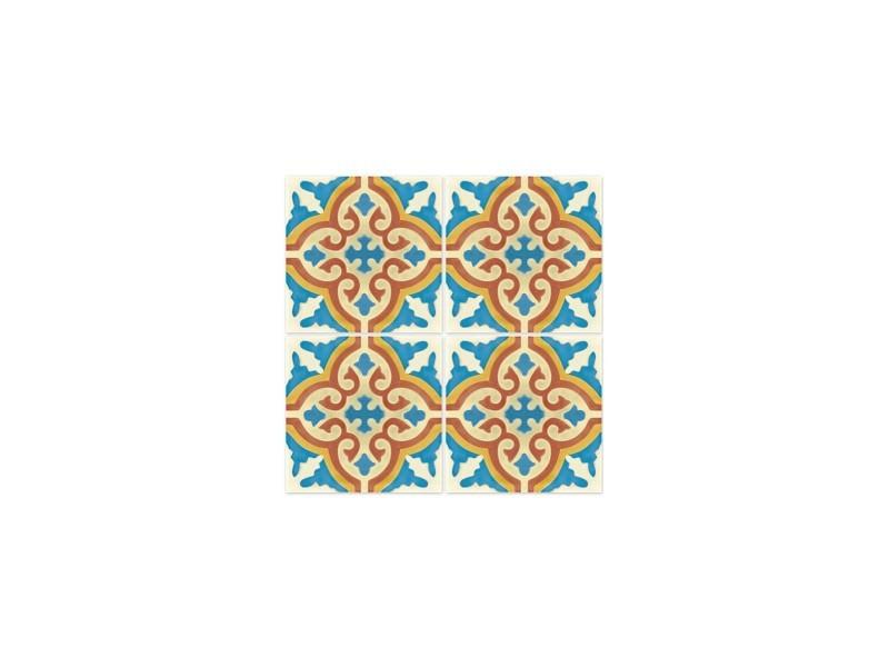 Stickers Pour Carrelage De Salle De Bain Ou Cuisine Rimal Bleu/rouge