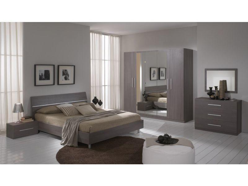 Miroir Pour Chambre A Coucher Coloris Chene Gris P 6436 Co