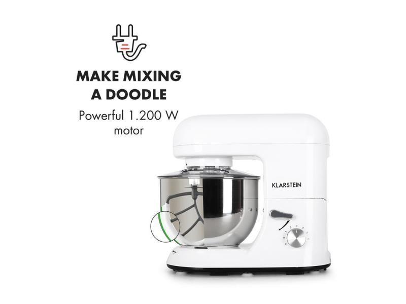 Klarstein Bella Bianca Robot De Cuisine 1200w 5 Litres Vente De