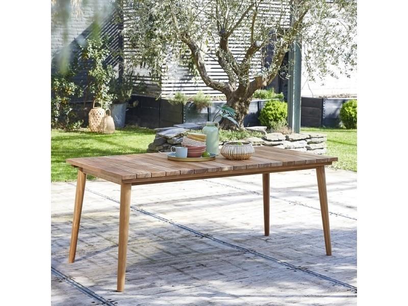 Table de jardin en bois de teck 6 à 8 places - Vente de ...