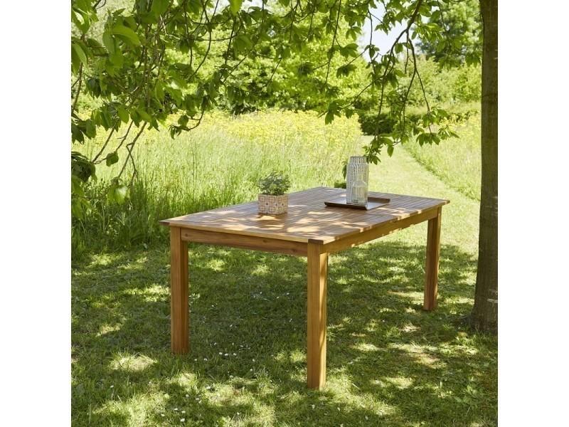 Table de jardin en bois d\'acacia fsc avec rallonge 8 à 10 places ...