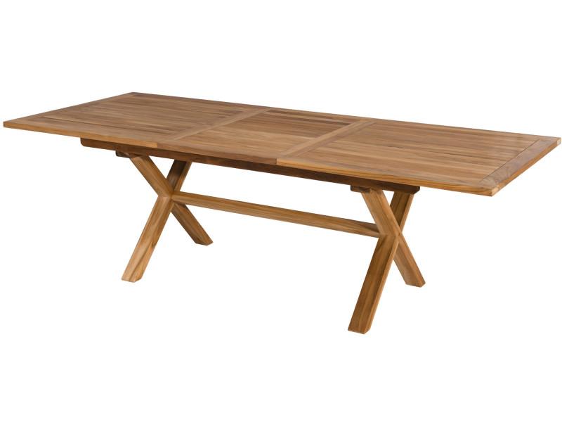 Table de jardin extensible 180 - 240 cm en bois de teck ...