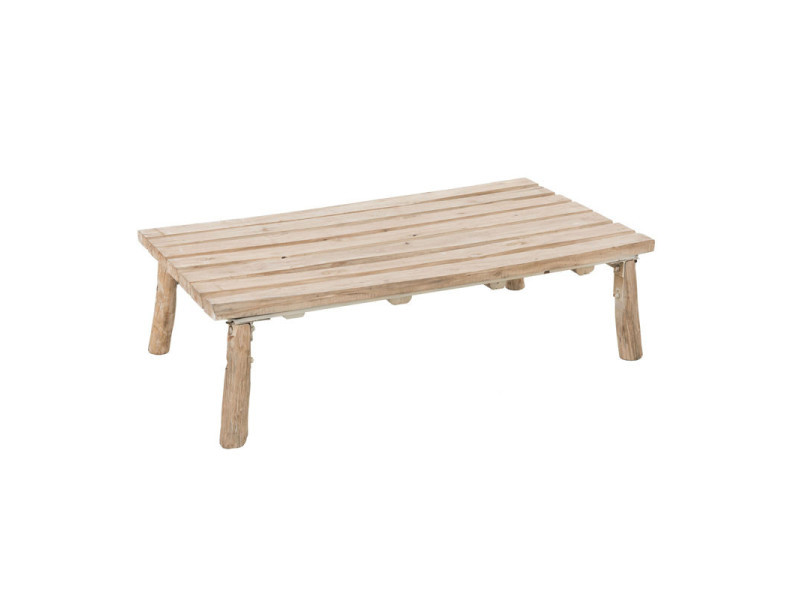 Table Basse Bois Naturel Chilo L 120 X L 64 X H 31 Neuf