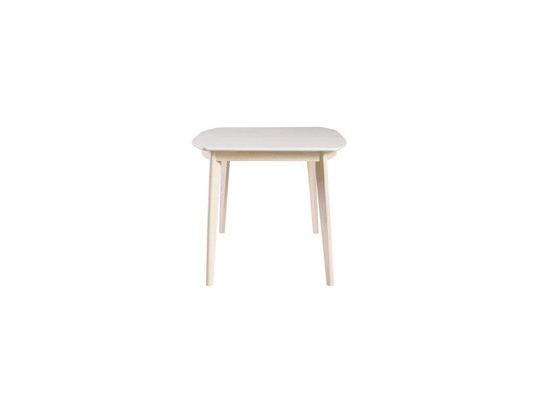 Table Ronde Extensible Scandinave.Table A Manger Extensible Scandinave Blanc Et Bois Clair