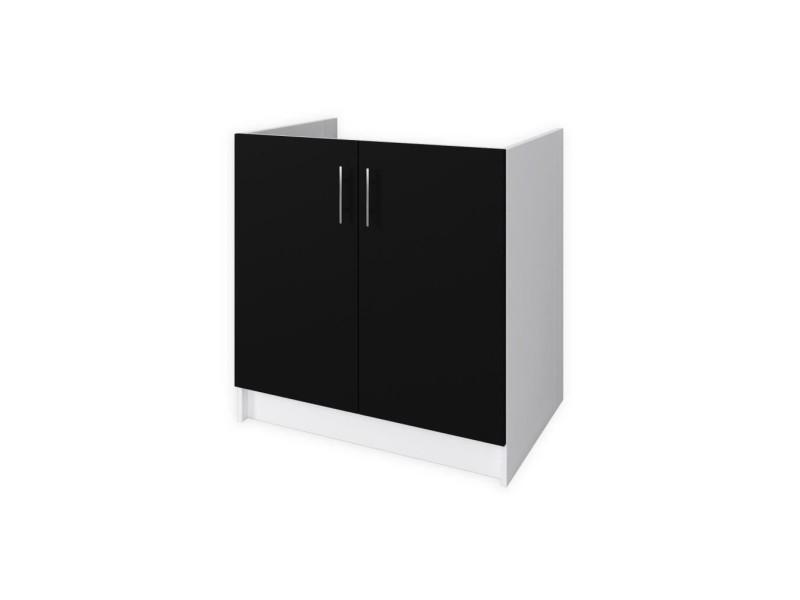 obi meuble sous vier l 80 cm noir mat vente de buffet. Black Bedroom Furniture Sets. Home Design Ideas