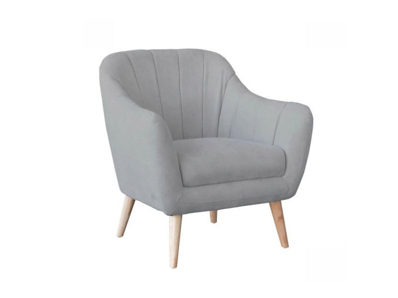 Bobochic fauteuil ore gris