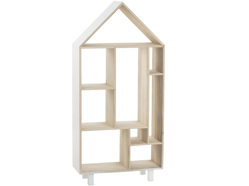 Etagere Enfant Sur Pieds Forme Maison En Bois L 50 X L 20