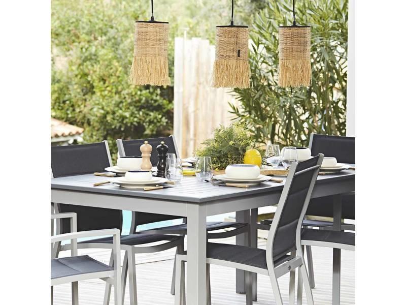 Salon de jardin table extensible - chicago 210 gris - table ...