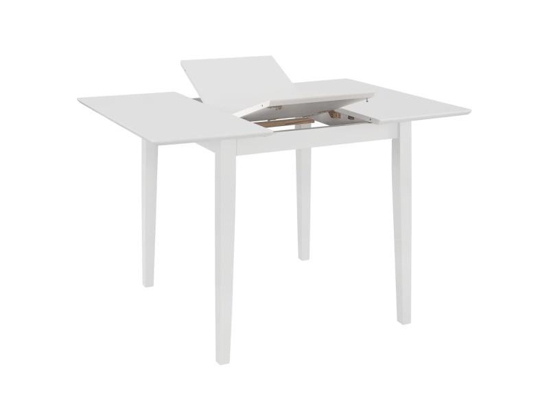 Vidaxl table à dîner extensible blanc (80-120) x 80 x 74 cm mdf 247626
