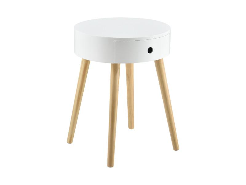 avec table tiroir table casapetite ronde de en commode kTOPXZiu