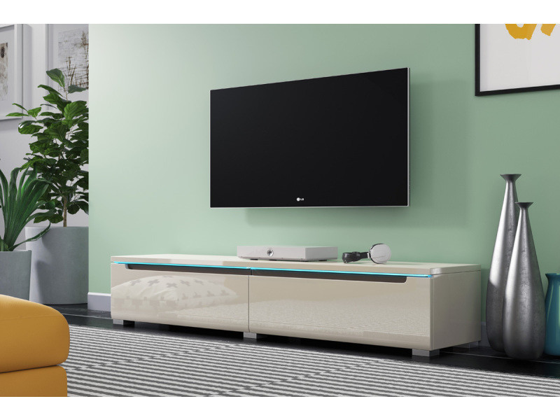meuble tv meuble de salon swift 140 cm beige. Black Bedroom Furniture Sets. Home Design Ideas