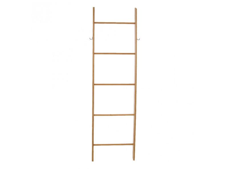 echelle porte serviette bois Echelle porte serviette - 5 niveaux - bambou