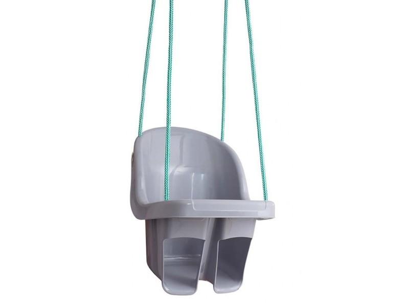 Fraize balançoire enfant à cordes avec siège et dossier gris