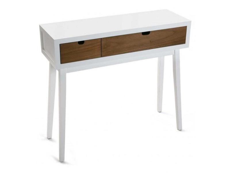 bois 2 console blanc en à tiroirs TJcF1lK3