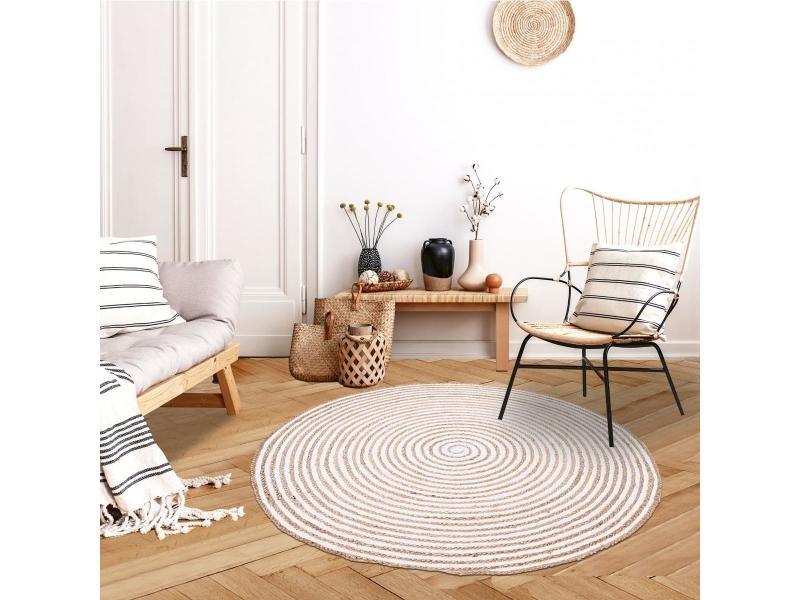 Jt spiraltry blanc 200 x 200 cm tapis de salon moderne ...