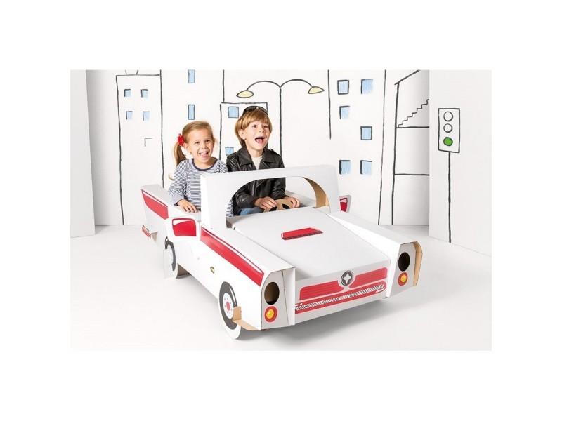 grande voiture en carton a construire peindre d corer. Black Bedroom Furniture Sets. Home Design Ideas