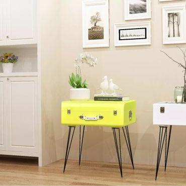 joli tables ensemble j rusalem table de chevet 49 5 x 36 x. Black Bedroom Furniture Sets. Home Design Ideas