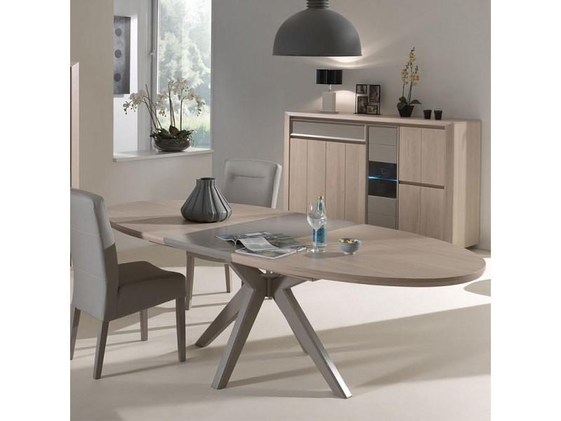 Salle à manger moderne couleur bois et taupe promesse avec ...