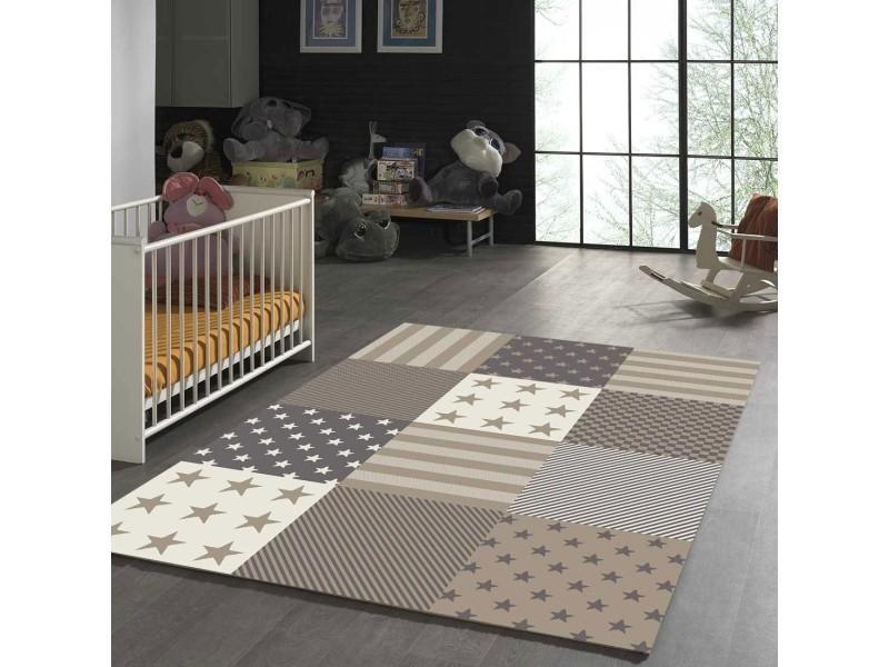 Tapis chambre flag start beige 80 x 150 cm tapis pour enfants ...