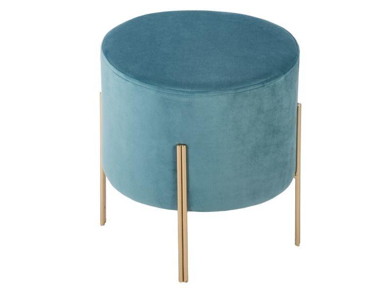 en bleu et cm Vente h40 Bar velours sofy Tabouret de DIW2HE9Y
