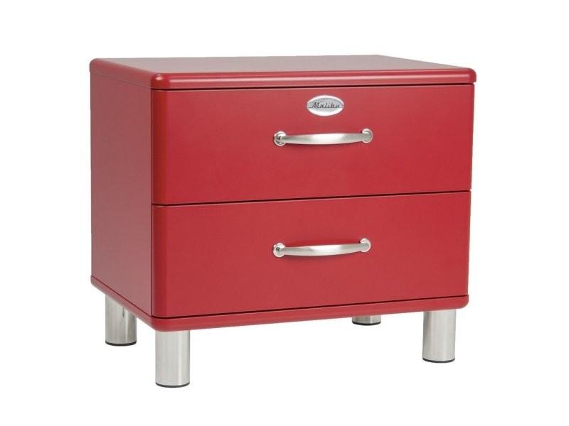 Table de chevet en bois 2 tiroirs malibu 9005212028