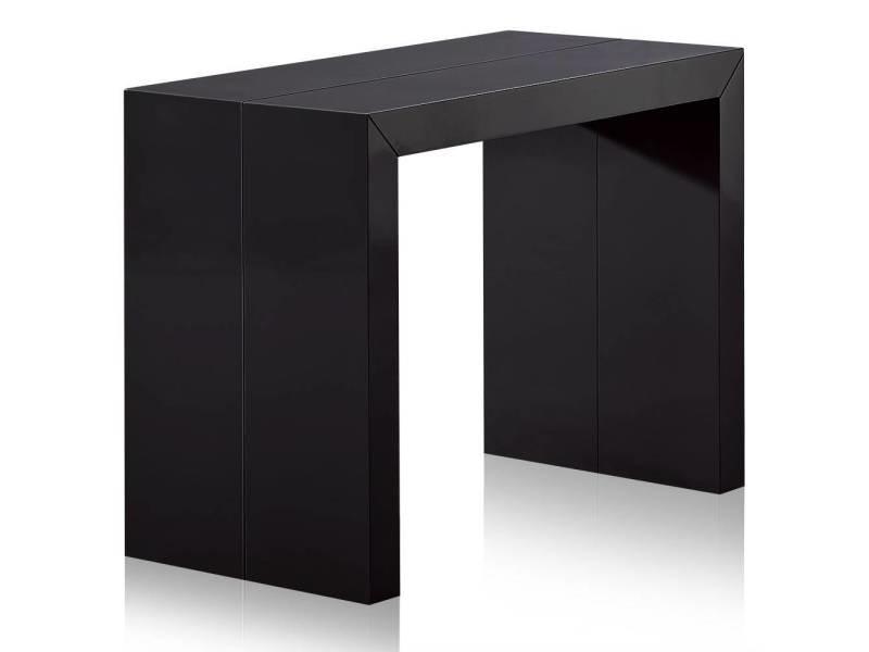 Table console extensible nassau xl laquée noir