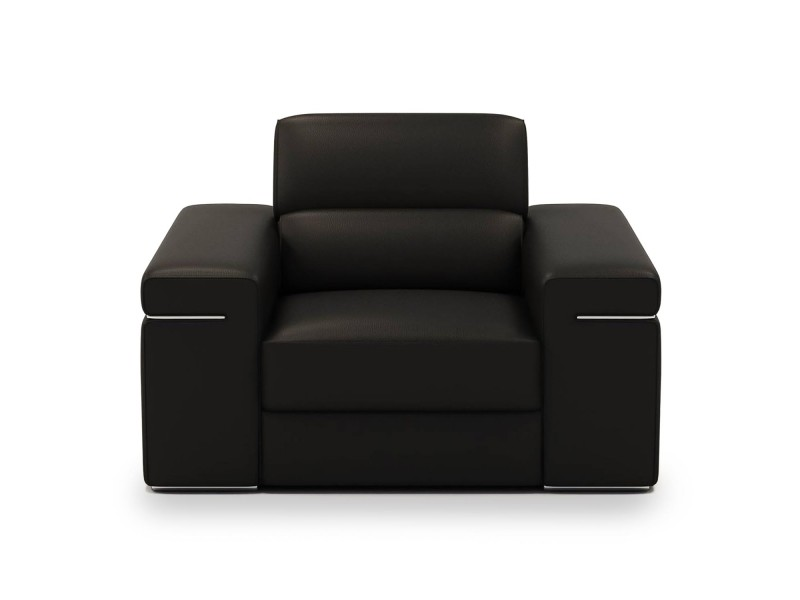Billy - fauteuil design en cuir noir