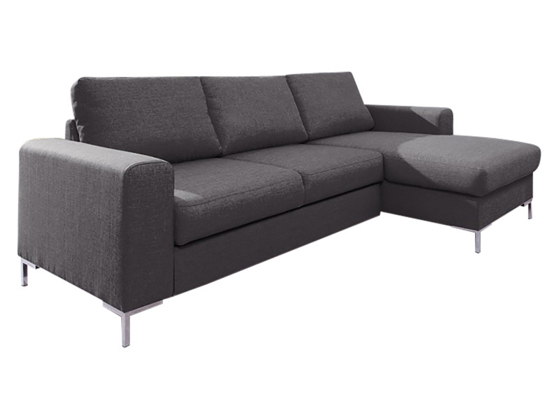 Canapé lilly angle droit fixe gris anthracite 5906395167951