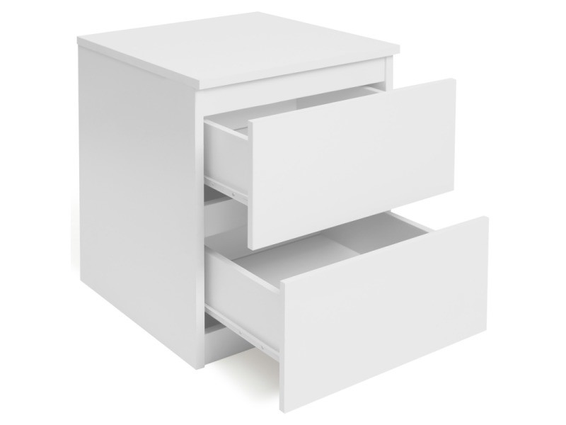 Lot De 2 Tables De Chevet Bois Blanc Tomi Vente De Id Market