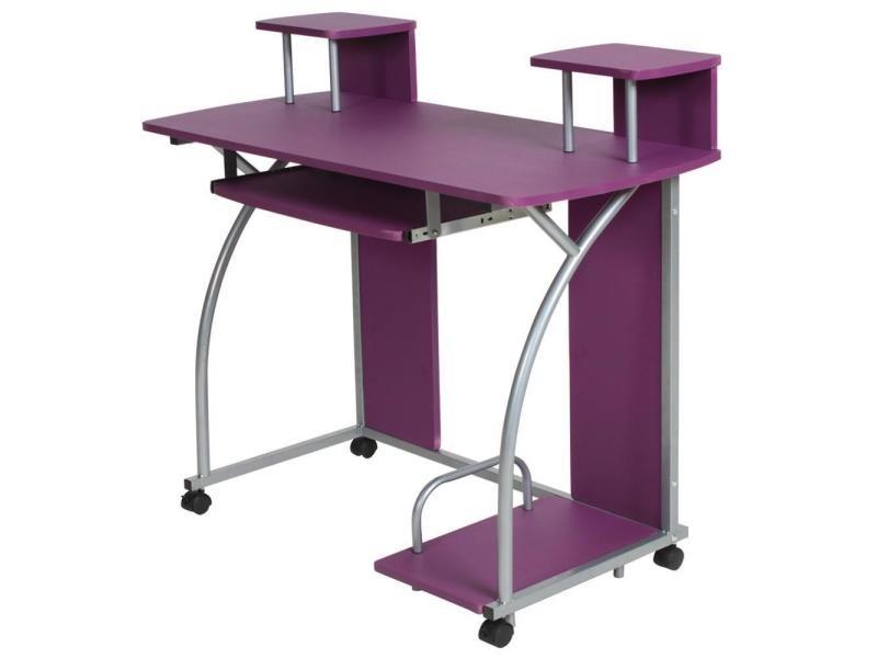 Bureau Meuble Chambre : Bureau enfant table de travail meuble mobilier chambre violet