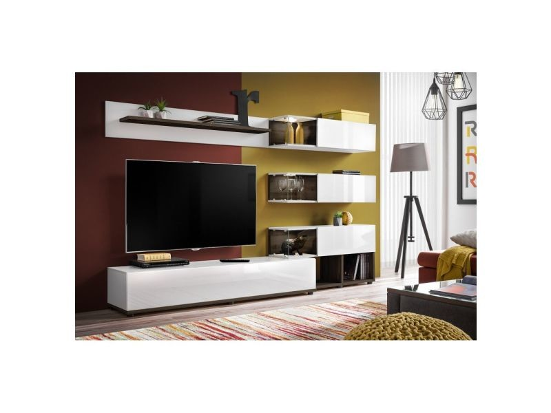 Ensemble Meuble Tv Mural Abw Silk 240 X 40 X 150 Cm