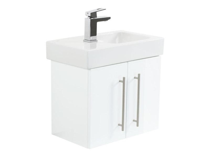 Meuble sdb avec vasque de keramag icon xs 53 cm modèle gauche blanc ...