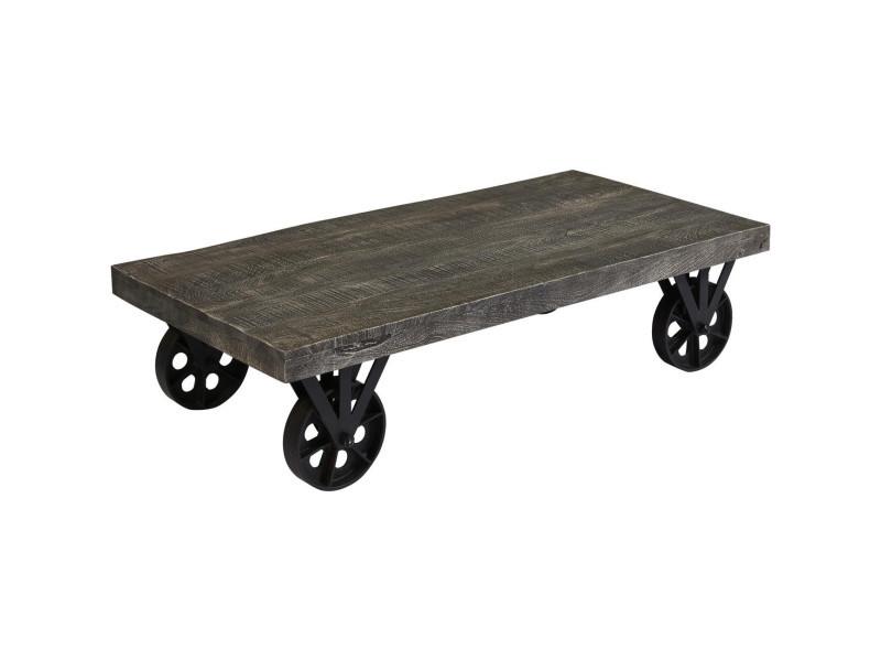 Subleem table basse bois chennai gris