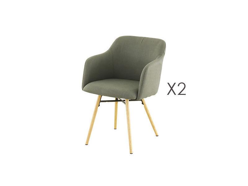 Lot de 2 fauteuils de repas anthracite - mya