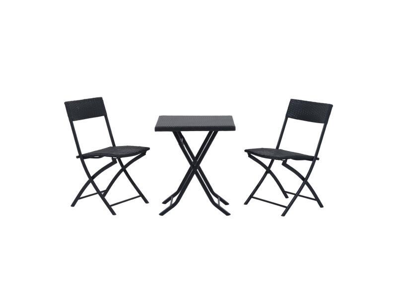 Et Ensemble Meubles Jardin De Chaises Design Table Pliables Carré 2WEH9DYI
