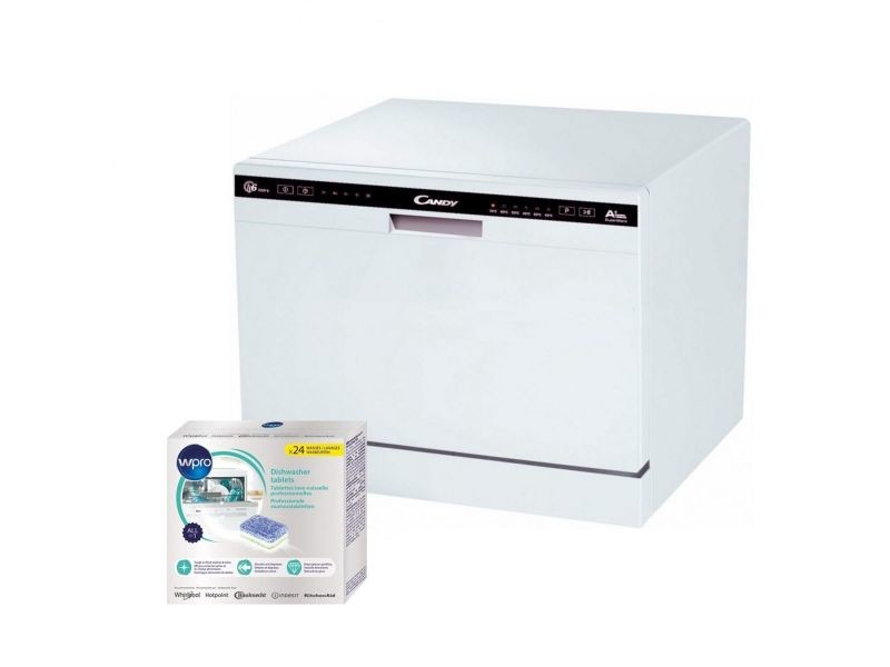 Candy Mini Lave Vaisselle Posable Blanc 49db A 6 Couverts