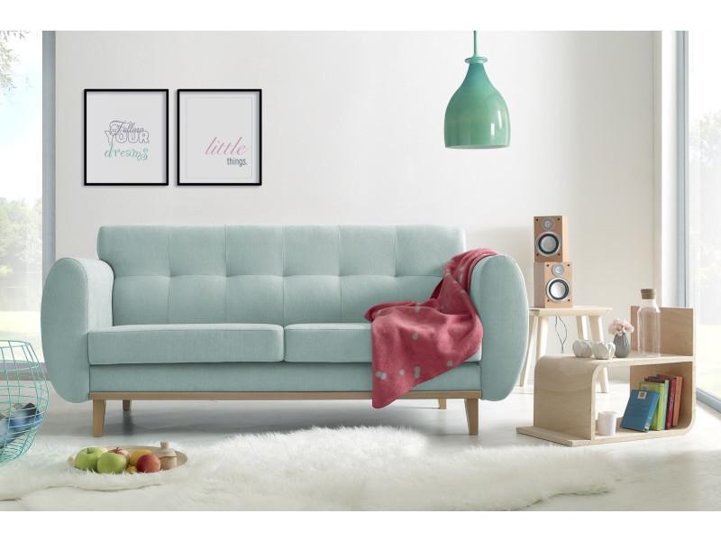 Canapé droit viking bleu poudré