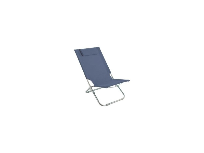 chaise longue bleu orage