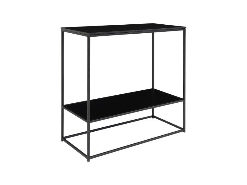 Console minimaliste en bois et métal 80x80cm givaude 2301070