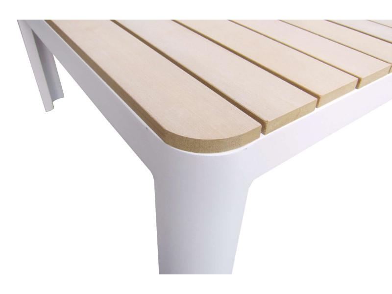 bobochic ibiza - salon de jardin en angle - 4 places - aluminium ...