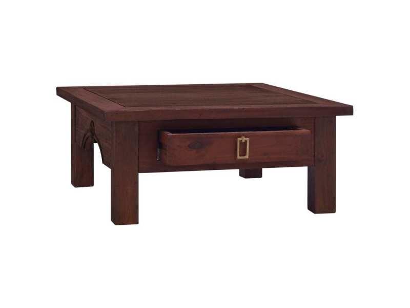 Vidaxl table basse marron classique 68x68x30 cm bois d'acajou massif 288825