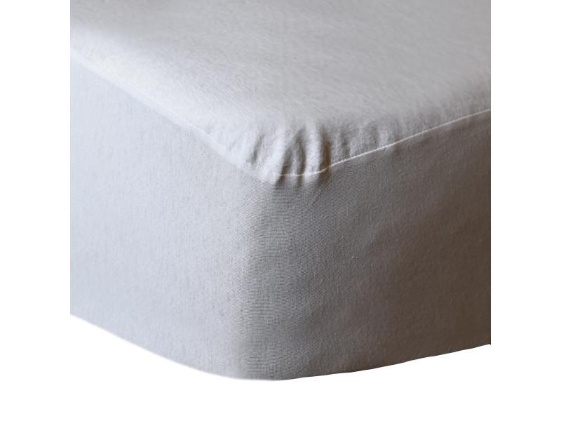 Protège matelas imperméable en coton 160+80 gr/m² protect - blanc - 140x190 cm